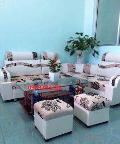 Sofa góc da nỉ SDN01 thanh lý