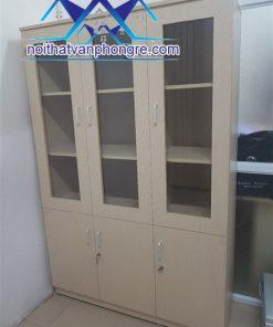Tủ gỗ tài liệu 3 buồng thanh lý
