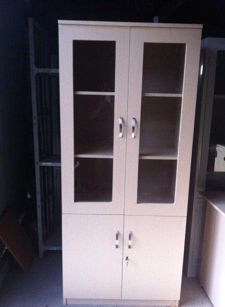 Tủ hồ sơ gỗ văn phòng 2 cánh kính
